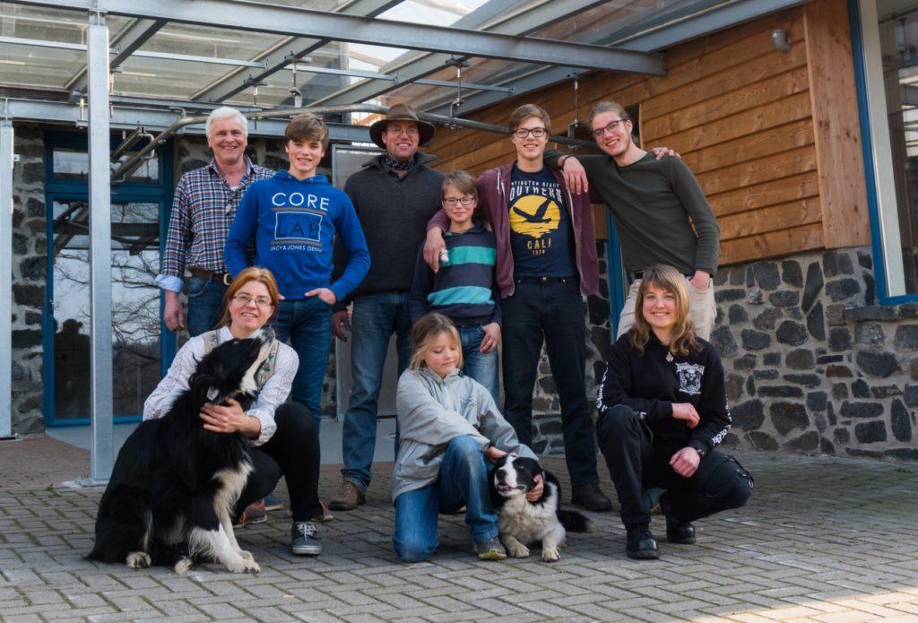 Familie Hampel mit Klaus Frühling